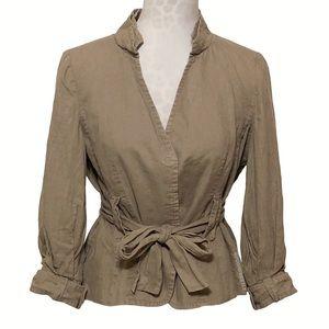 Zara 100% Linen Belted Jacket